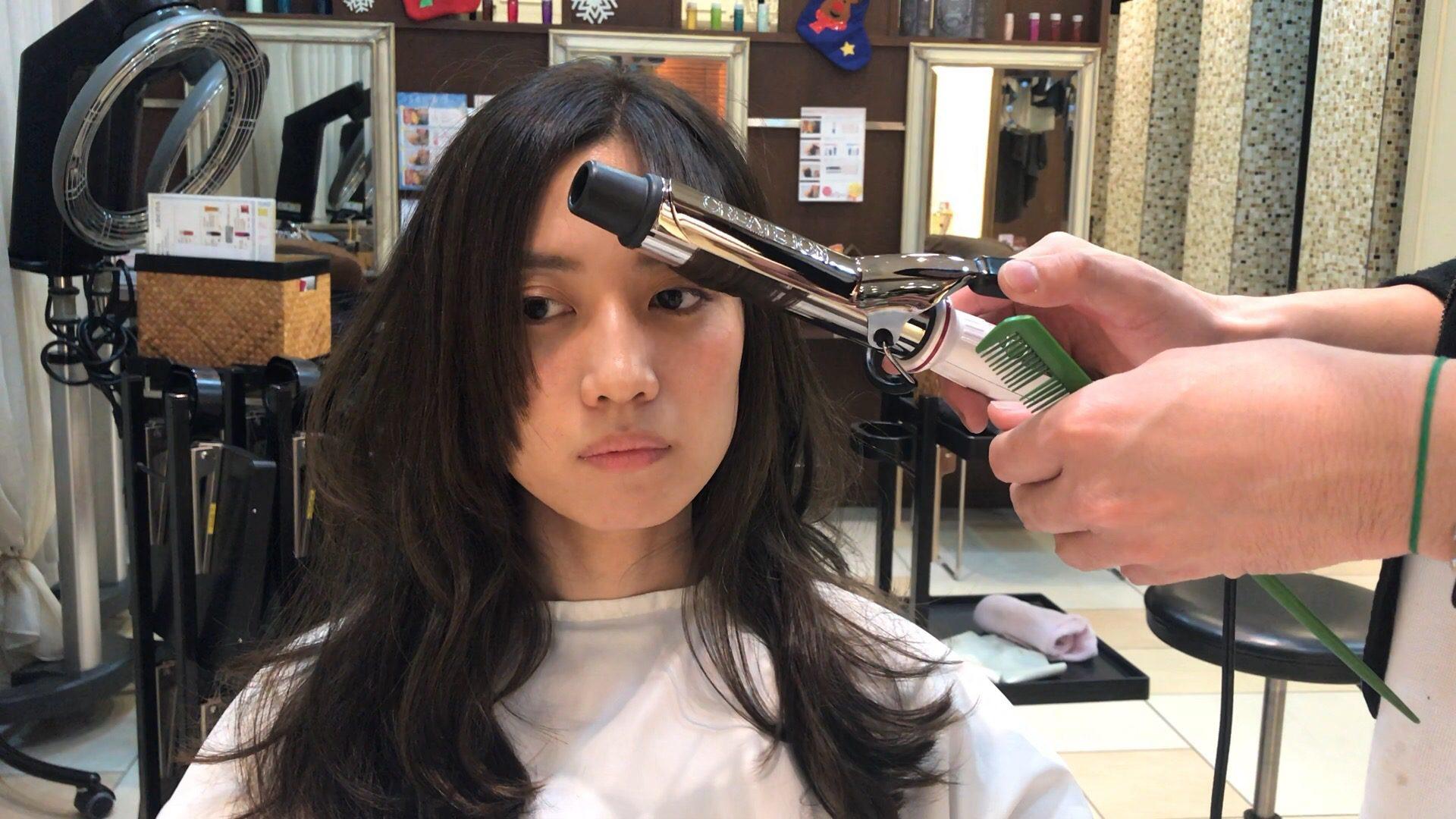 分け 巻き センター 方 前髪
